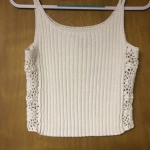 Express Tricot Knitted High Waist Tank Top Size M